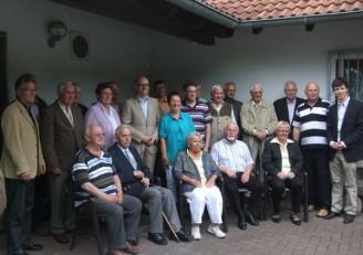 Gruppenbild Mitgliederehrung Sommerfest 2012