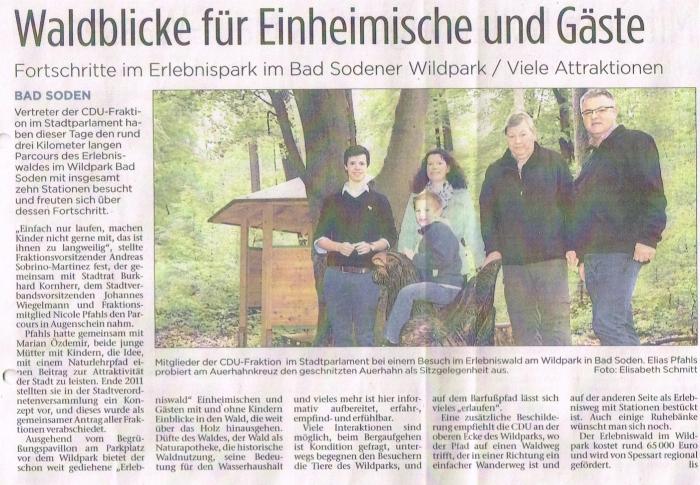 Bericht aus den Kinzigtal Nachrichten vom 6. Mai 2014.