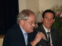 Herr Bürgermeister Friedhelm Engel aus Großkrotzenburg (CDU) und Herr Prof.Dr.Kilian Hartmann (FH Aschaffenburg)