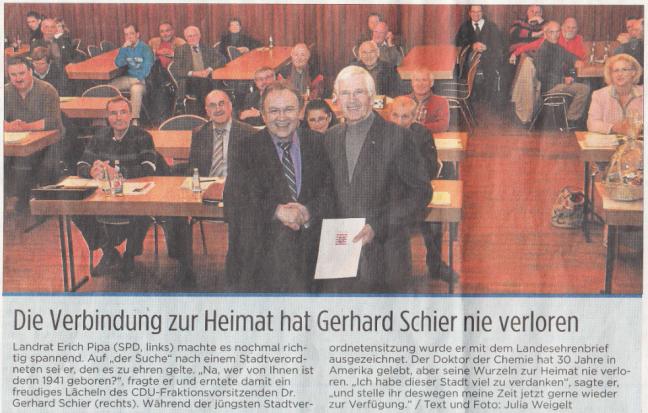 Bericht aus den Kinzigtal Nachrichten (KN) vom 16.11.2011