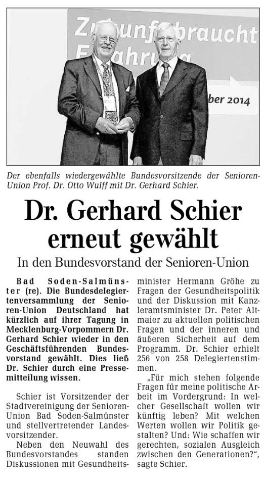 Gelnhäuser Neue Zeitung (GNZ) vom 10.9.2014