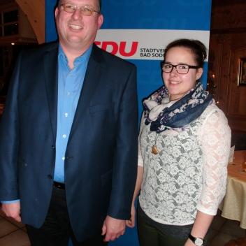 Die beiden nachgewählten Vorstandsmitglieder Torsten Kurpiers (Kassierer) und Monika Wiegelmann (Schriftführerin)