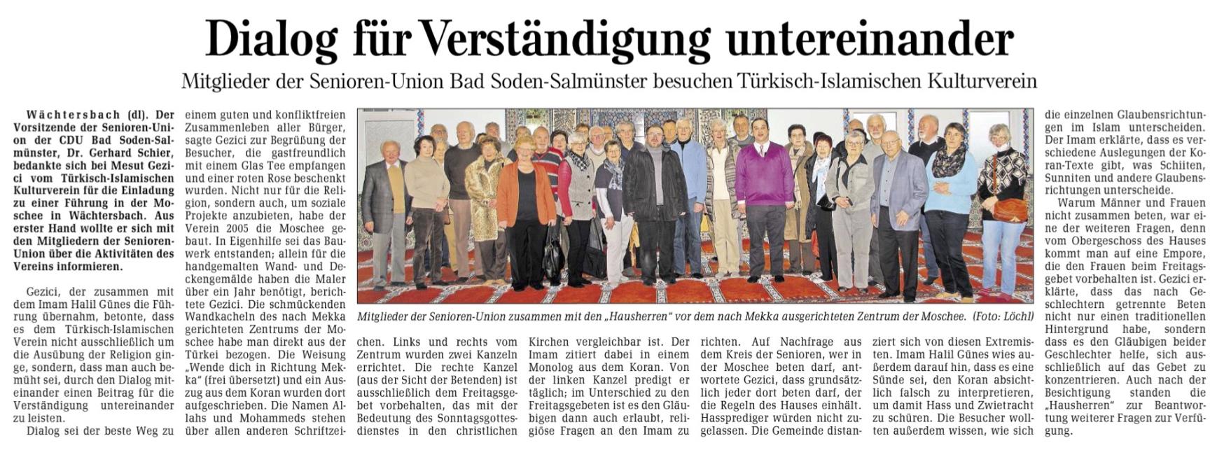 Bericht aus der Gelnhäuser Neuen Zeitung
